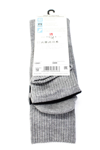 Falke Mens Dynamic Long Socks Light Grey Size 44-45