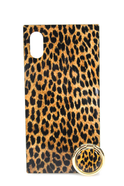 iDecoz Womens 2 Piece Leopard iPhone Accessories Leopard iPhone XS