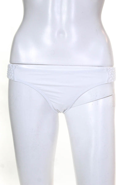 Solid & Striped Womens The Braided Elle Bikini Bottoms White Size Small