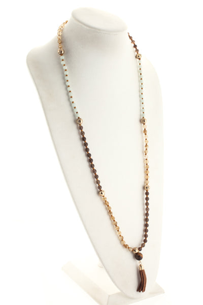 Marlyn Schiff Beige Amazonite Beaded Strand Necklace $128 NEW