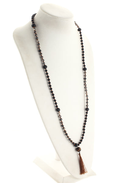Marlyn Schiff Black Gray Zebra Onyx Strand Necklace $128 NEW