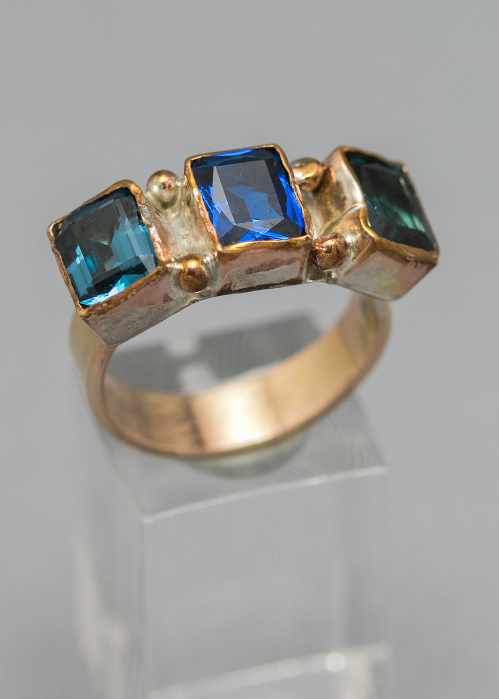 Bouquet of Blue Gems Ring