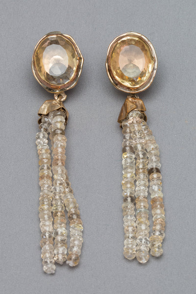 Citrine and Topaz Earrings