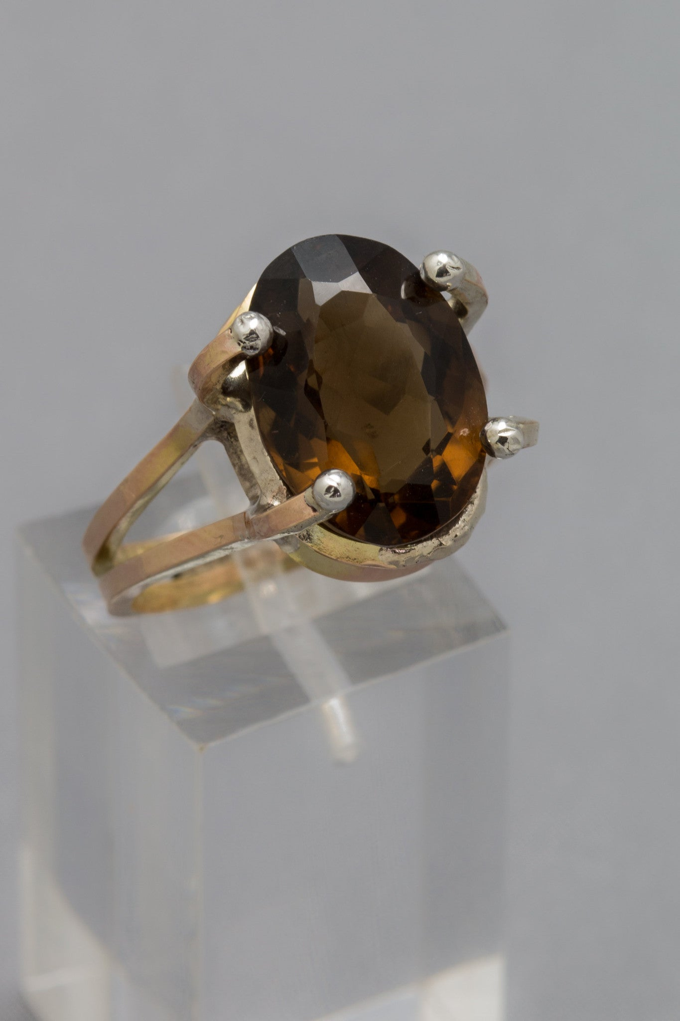 Cognac Smokey Quartz Ring