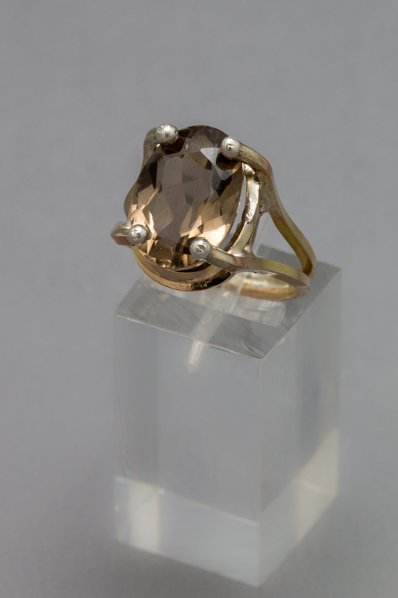 Whiskey Smokey Quartz Ring