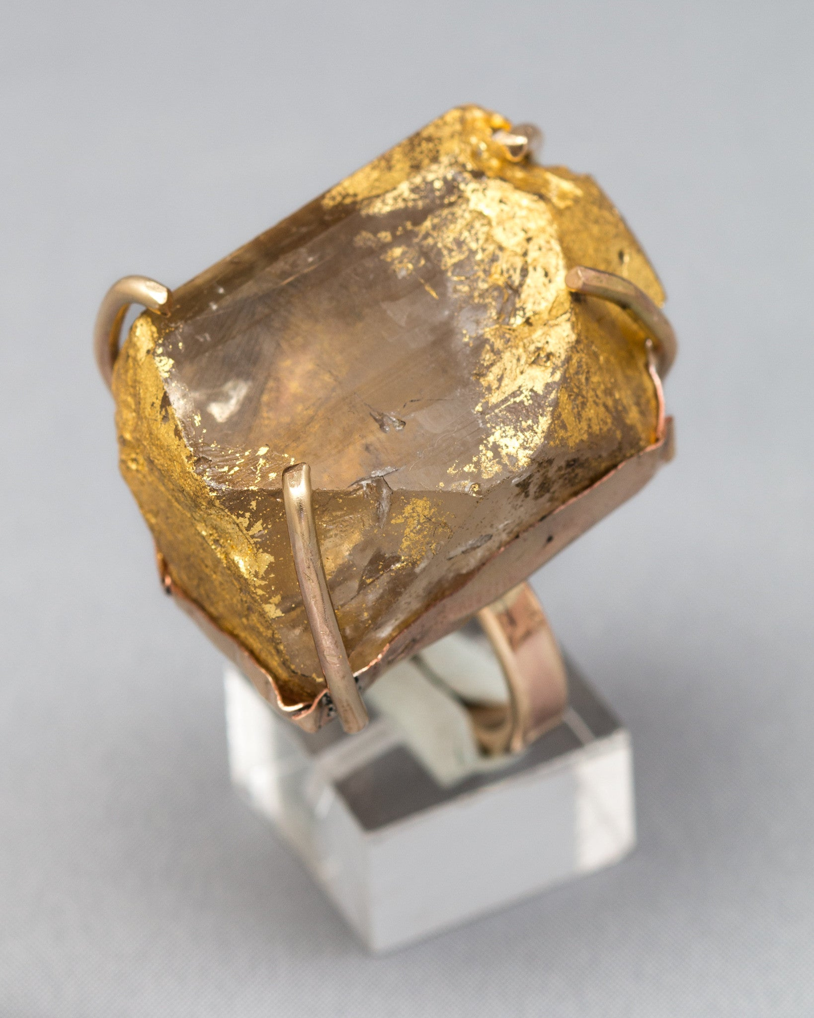 Dripping in Gold Topaz Ring