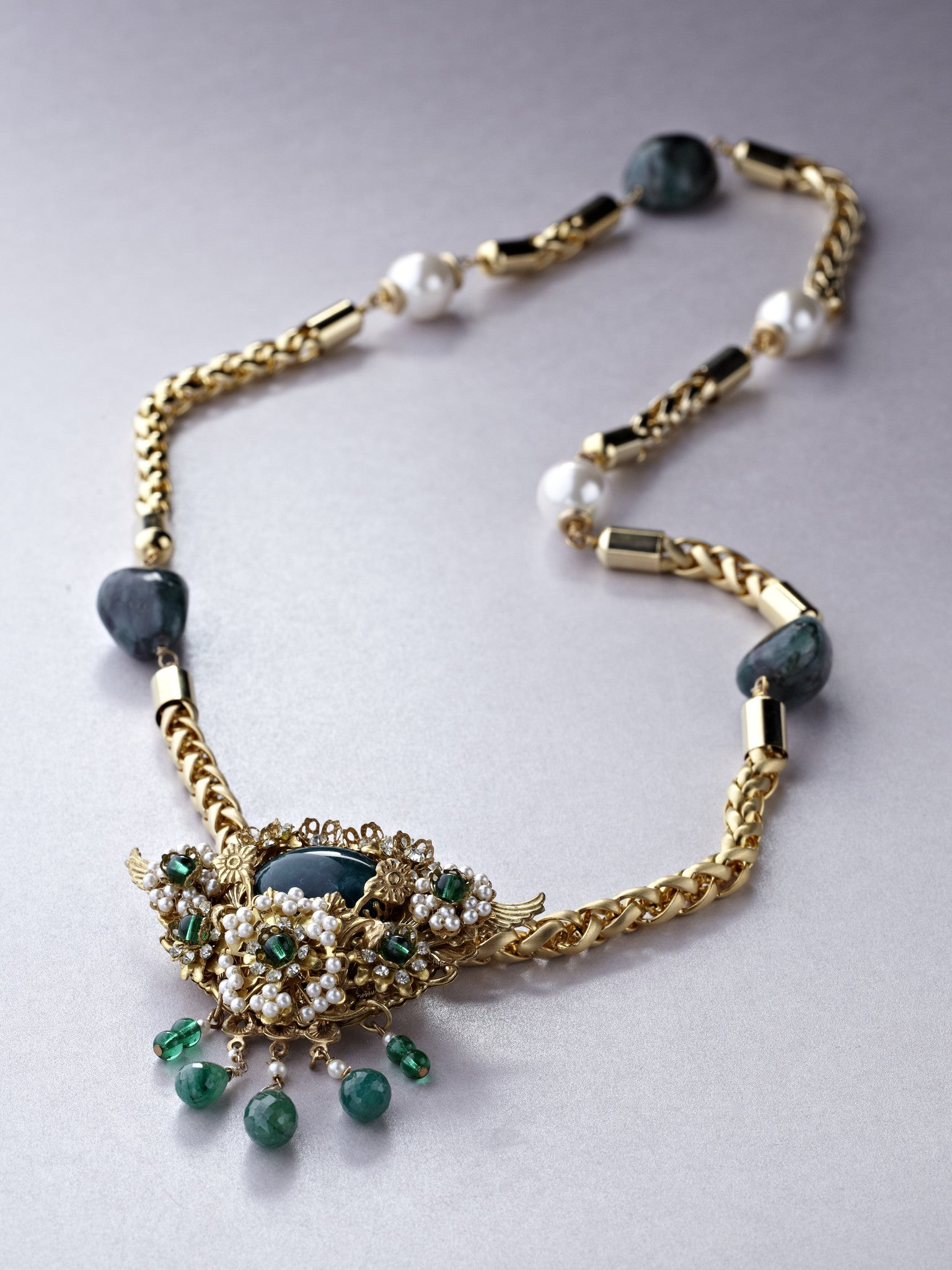Long Emerald and Pearl Haskell