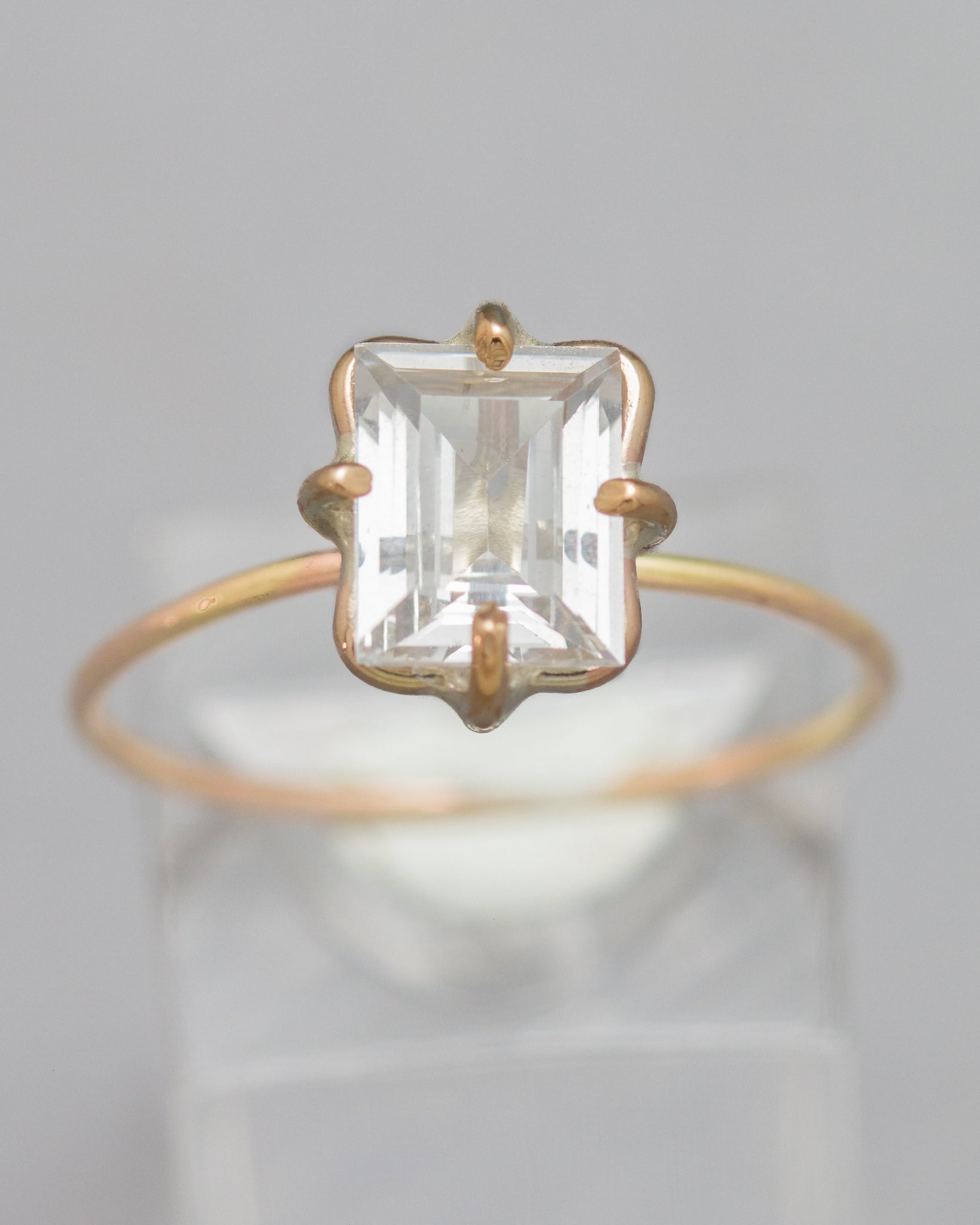 White Zircon Stacking Ring
