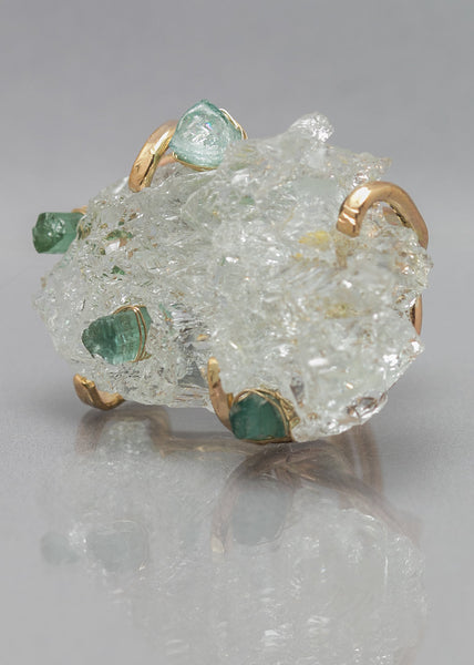 Frederique's Glittery Aquamarine Ring
