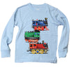 Wes and Willy Trains Long Sleeve Tee