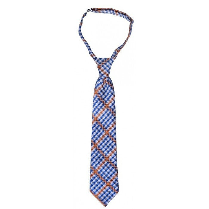 Blue & Orange Plaid Neck Tie