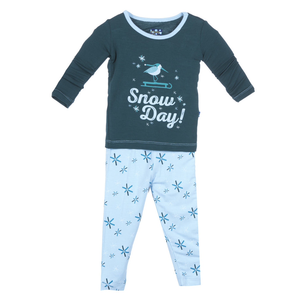 Kickee Pants Pond Snow Day Pajama Set Infant