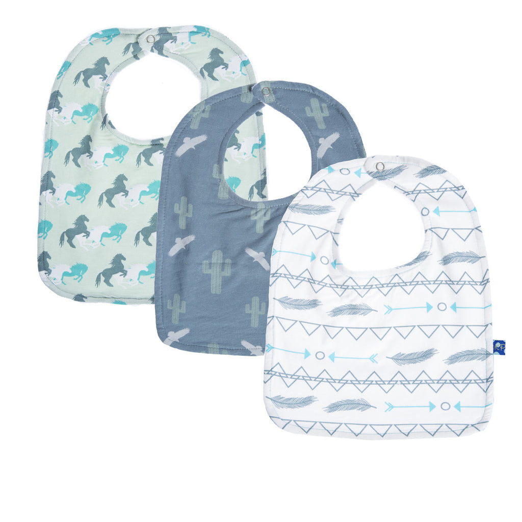 Kickee Pants 3 pc. Cactus Horses Southwest Bib Set