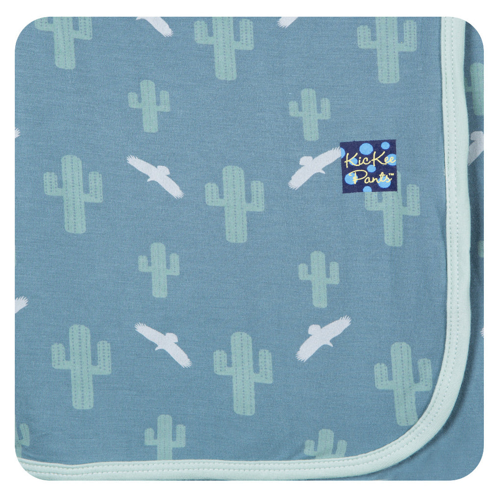 Kickee Pants Dusty Cactus Swaddling Blanket