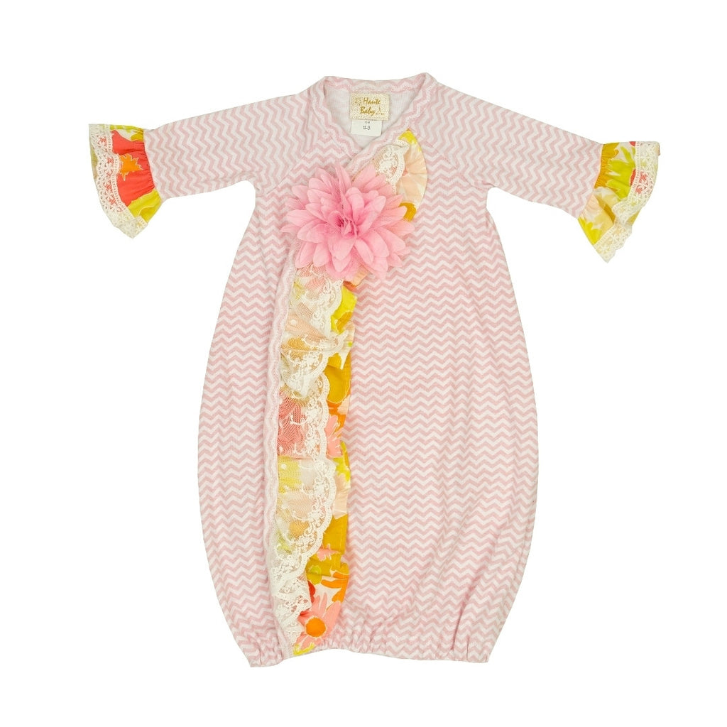 Haute Baby Anna Elise Gown 0-3m