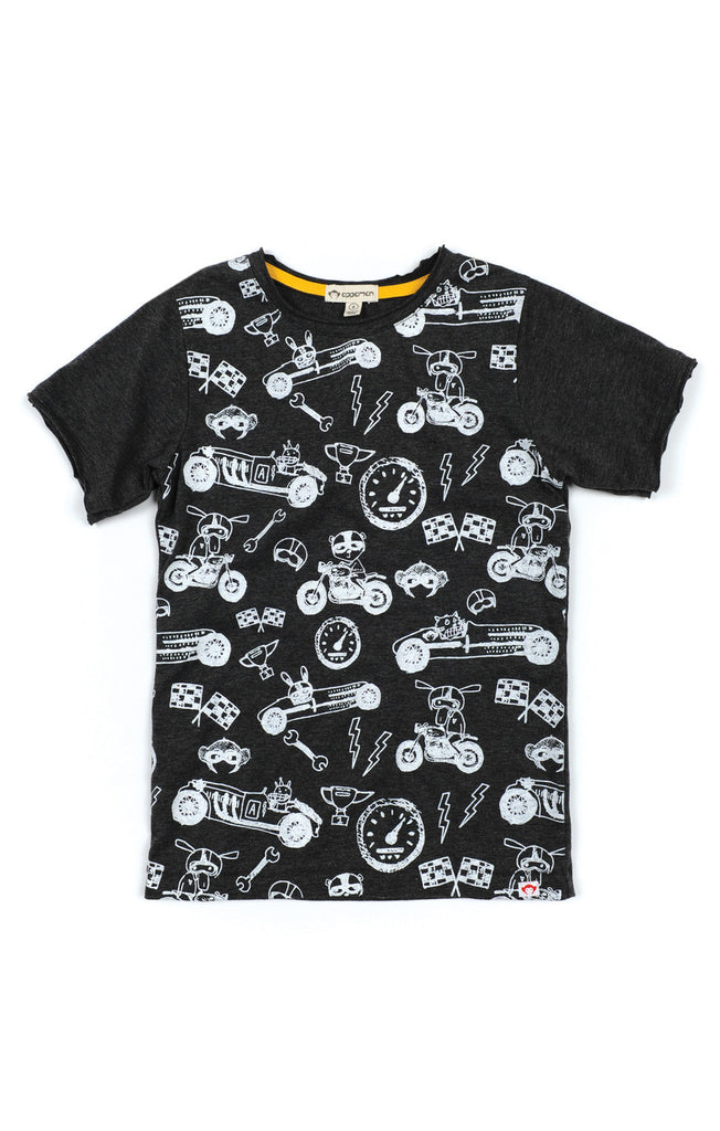 Appaman Charcoal Cars Graphic Tee
