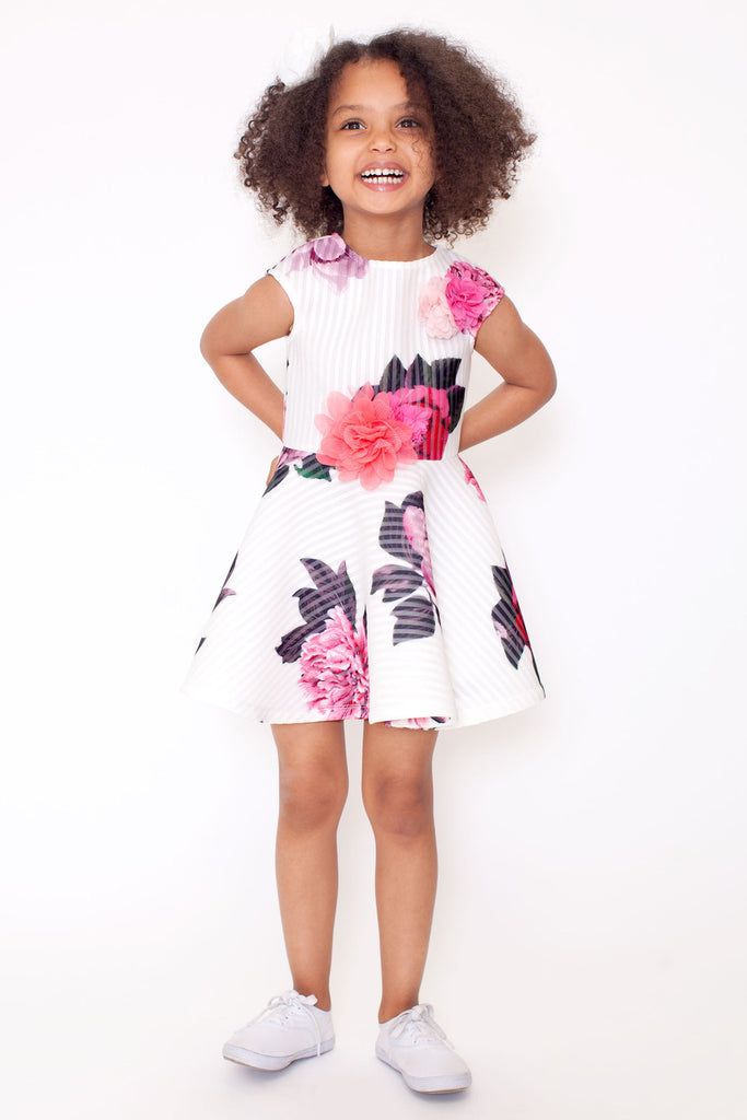 Hannah Banana 3D flowers dress