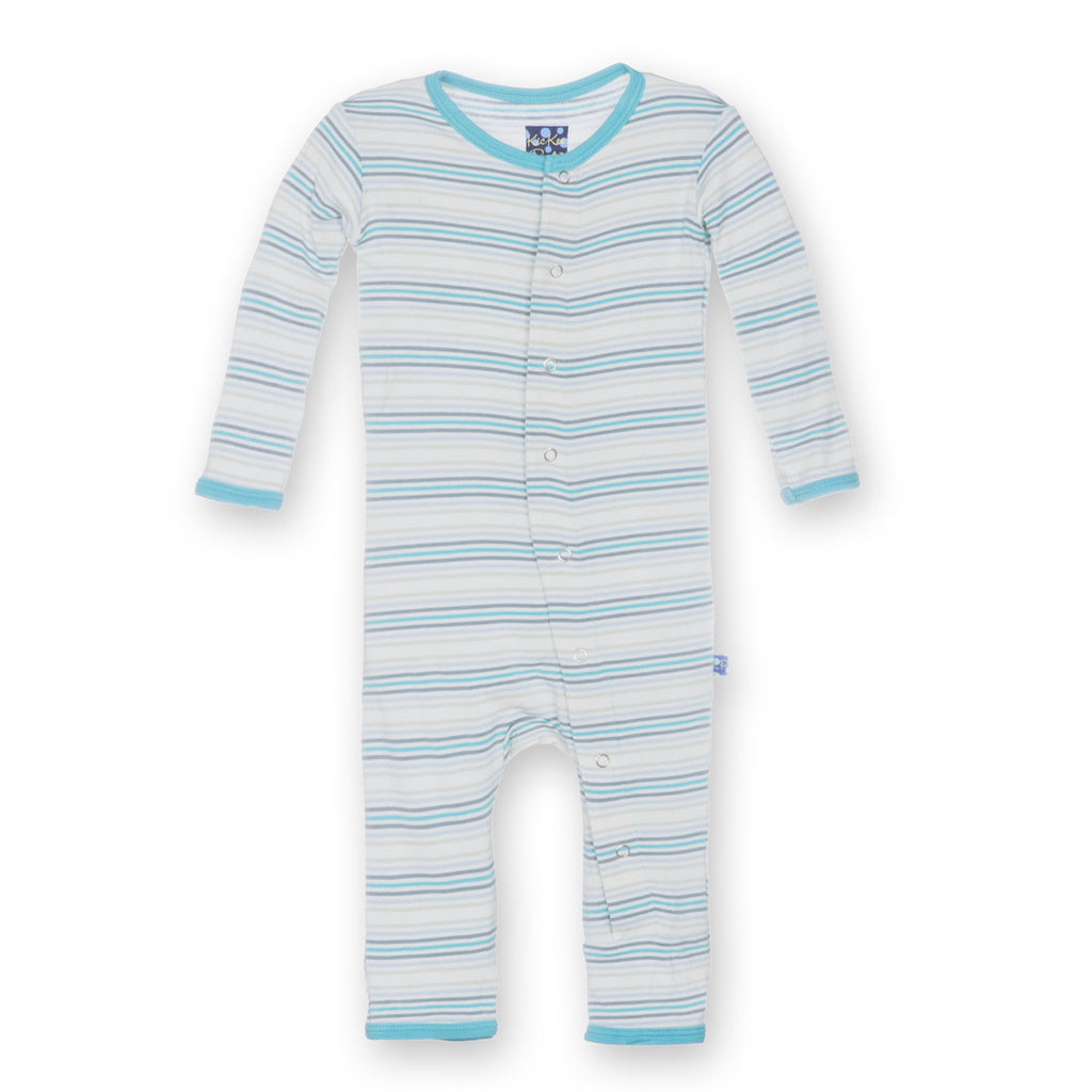 Kickee Pants Desert Stripe Fitted Coverall