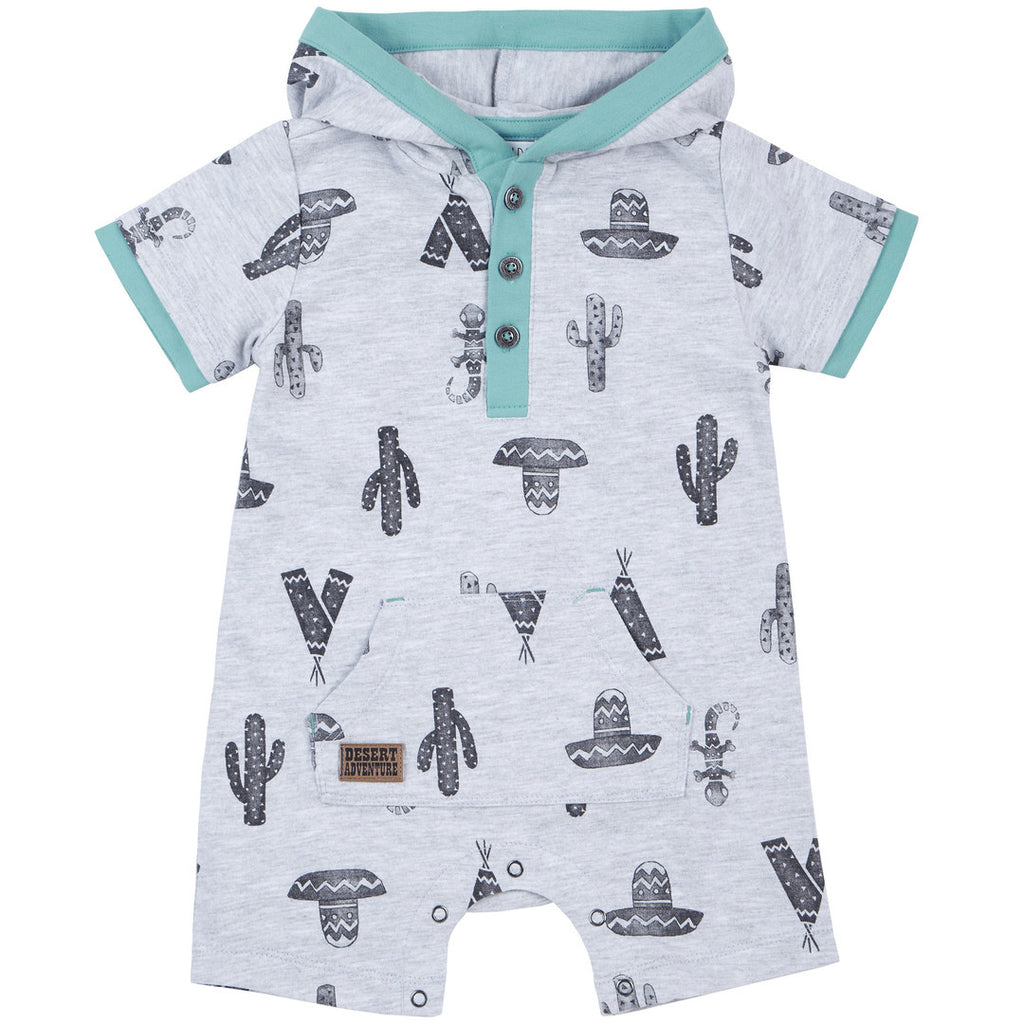 Petit Lem Wild One Hooded Playsuit
