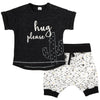 Petit Lem Hug Please Boy Cactus Short Set