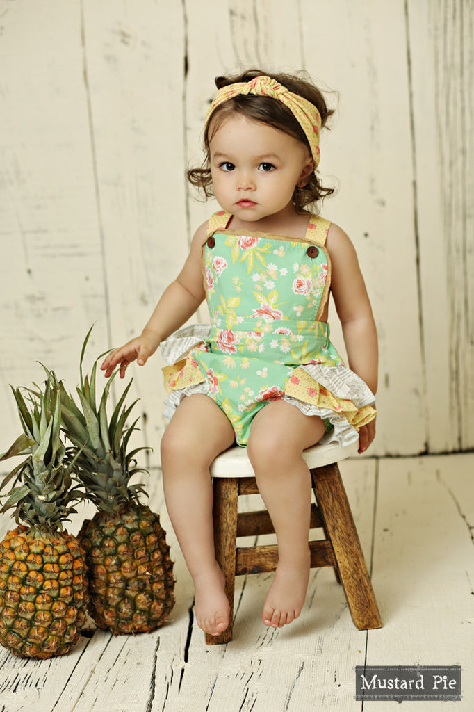 Mustard Pie Andalusia Savannah Bubble Romper