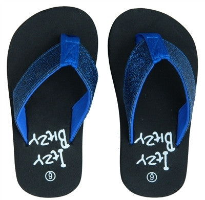 Royal Blue Sparkle Flip Flops
