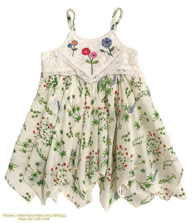 Mimi & Maggie Green House Plants Dress