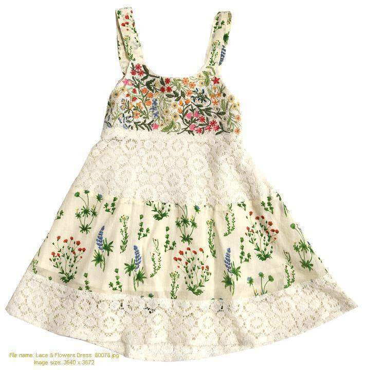 Mimi & Maggie Lace and Flowers Dress