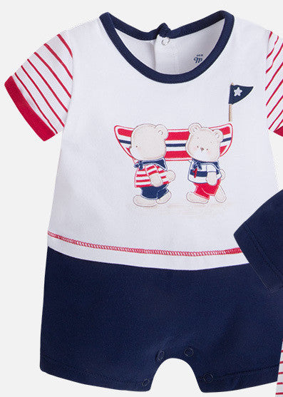 Mayoral Bears and Boats Romper