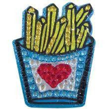 Small French Fry Rhinestone Decal