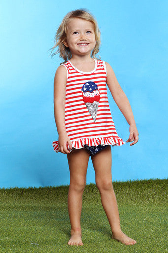 Havengirl USA Tank Ruffle Set