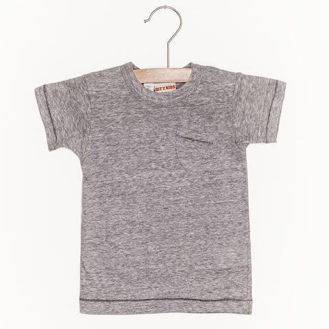 Bitz Kids Solid Grey Pocket Tee