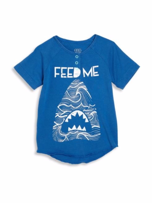 "Egg Zack ""Feed Me"" Tee Blue"