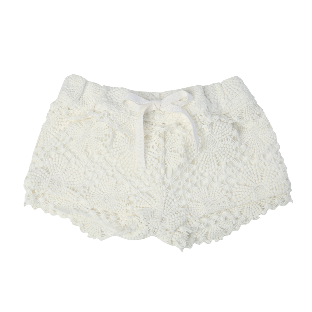 Egg Ivory Terri Crochet Shorts