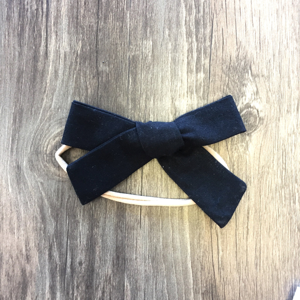 Black Marigold Bow Headband