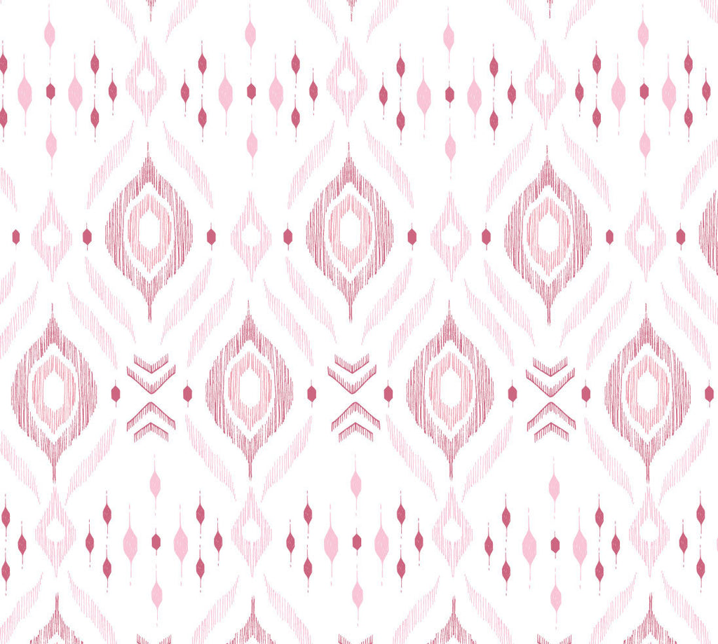 Pink Ikat Bamboo Swaddle Blanket