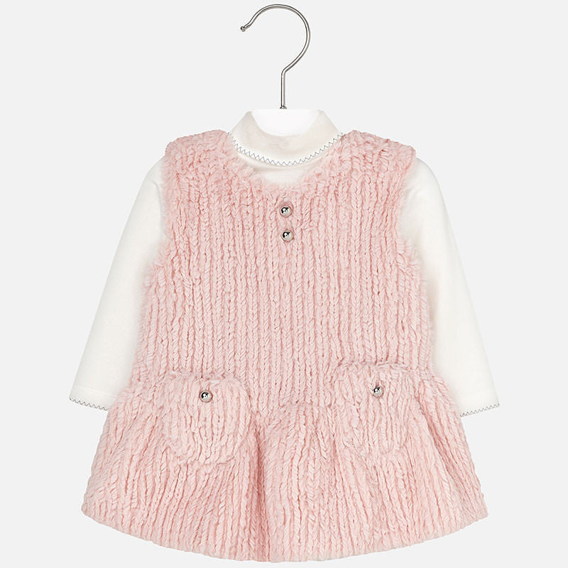 Mayoral Fur Pinafore Set
