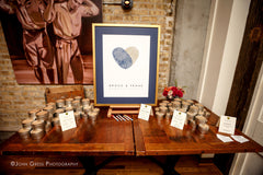 Wedding Table Display Idea | How to Display Guest Book | Brock and Frank