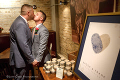 Gay Wedding Ideas | Guest Book Alternative | Brock and Frank