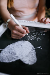 Guest Book Alternative | Chalkboard Fingerprint Guest Book Poster