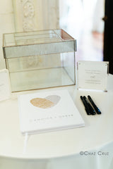 Hard Cover Fingerprint Guest Book | Candice and Derek