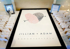 Jillian and Adam Wedding Guest Book Table Idea
