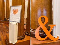 Orange Theme Wedding | Custom Fingerprint Wedding Sign