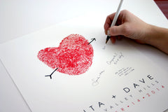 Signing A Guest Book Alternative Poster Wedding Idea