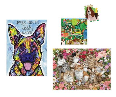 Galaxy Puzzles dog and cat puzzles