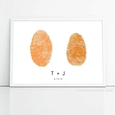 Fingerprint Wedding Guest Book Alternative ::: Side by Side