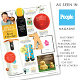Flutterbye Prints Paw Print Artwork featured in People Magazine