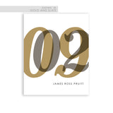 Gold and Silver baby nursery wall art birthday print for modern decor