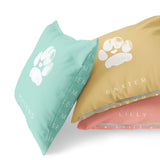 Cat lover pet gift custom cat paw print pillow