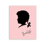 Baby Girl Nursery Wall Art Personalized Silhouette Cameo